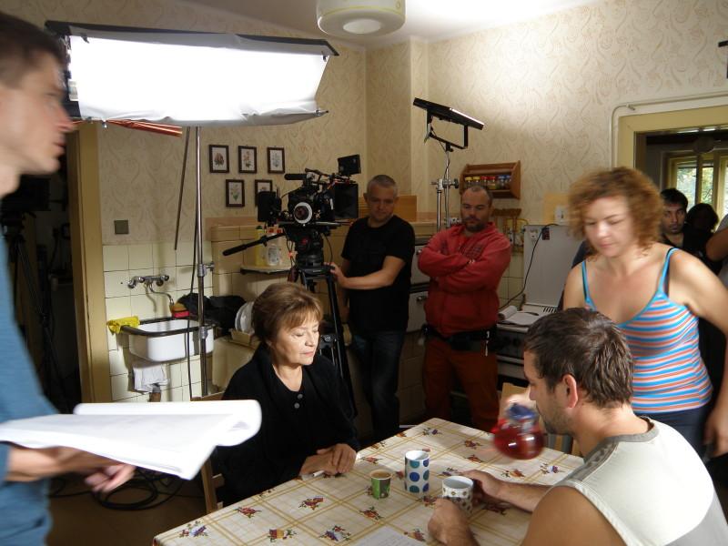 Natáčanie filmu Eva Nová