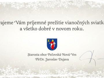 Vianočné prianie od starostu obce