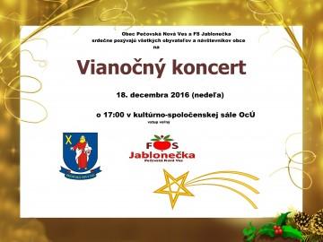 Pozývame na Vianočný koncert