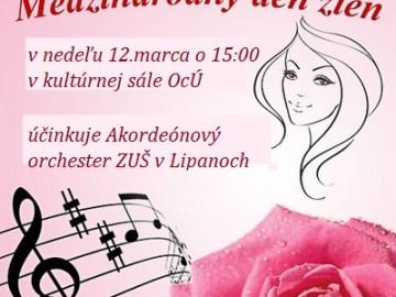 Pozývame na koncert pri príležitosti sviatku MDŽ