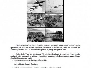 Pozvánka: Výstava artefaktov z obdobia II.svetovej vojny.