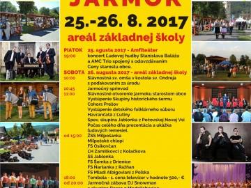 Podrobný program Pečovskonovoveského jarmoku