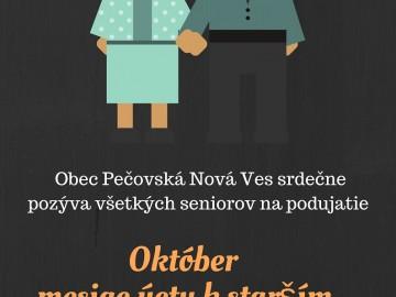 Pozývame seniorov na podujatie: Október-mesiac úcty k starším