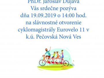 Pozývame na slávnostné otvorenie medzinárodnej cyklotrasy!