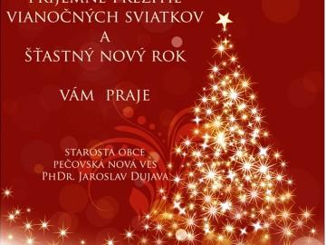 Príjemné prežitie vianočných sviatkov a šťastný nový rok