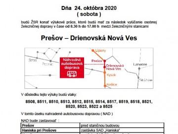 Výluka – 24. októbra 2020