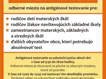 Antigénové testovanie 05.04.2021