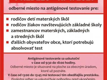 Antigénové testovanie 11.04.2021