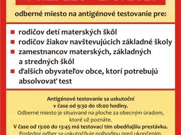 Antigénové testovanie 02.05.2021